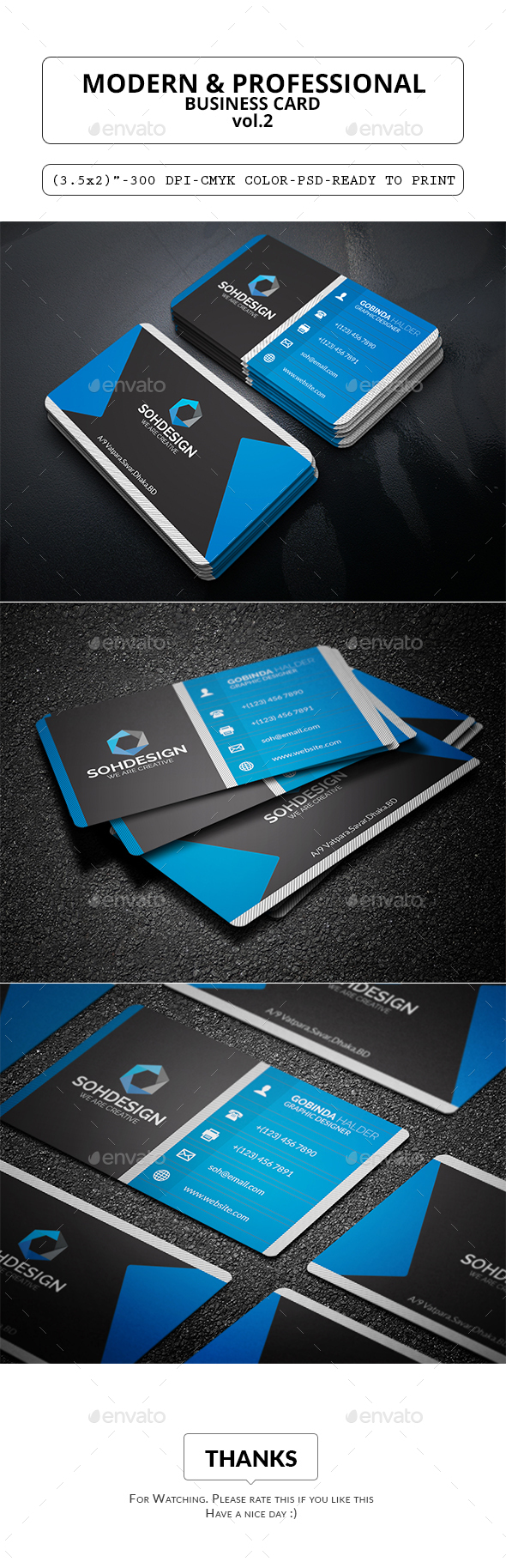 Modern & Professional Business Card Vol.2 - Corporate Business Cards