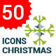 Flat Snowflakes Icons - GraphicRiver Item for Sale