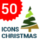 Flat Christmas Tree Icons - GraphicRiver Item for Sale