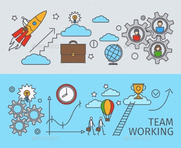Working Together Business Concept - Concepts Business
