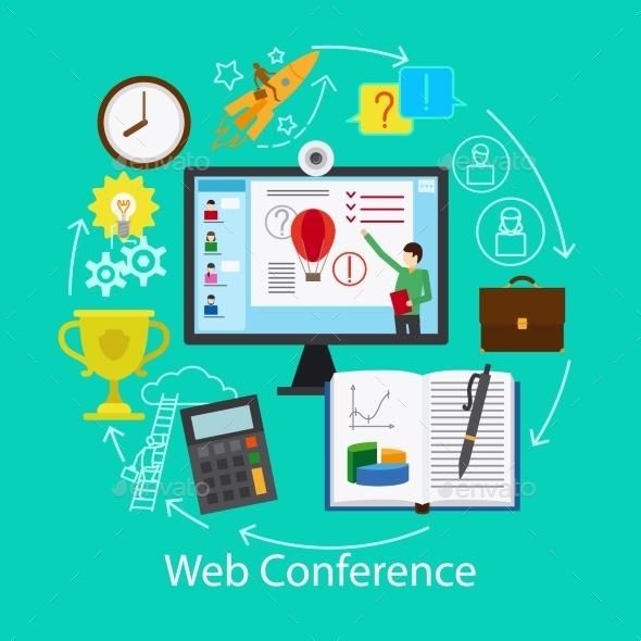 Web Conference Concept - Web Technology