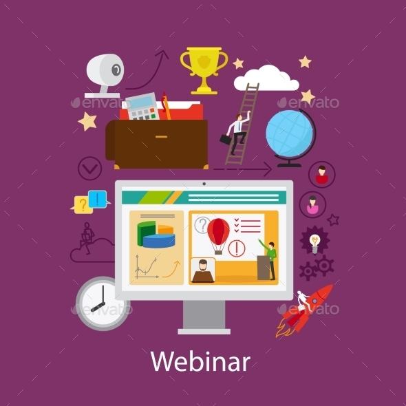 Webinar and Online Learning Concept - Web Technology