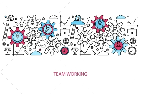 Business People Teamwork Concept - Web Technology