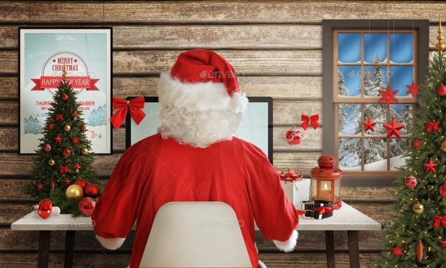Christmas Desk Mockup Scene Creator By Rsplaneta