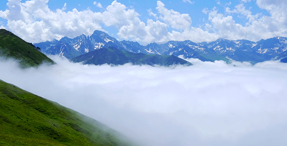 mountain with clouds by mkstock videohive