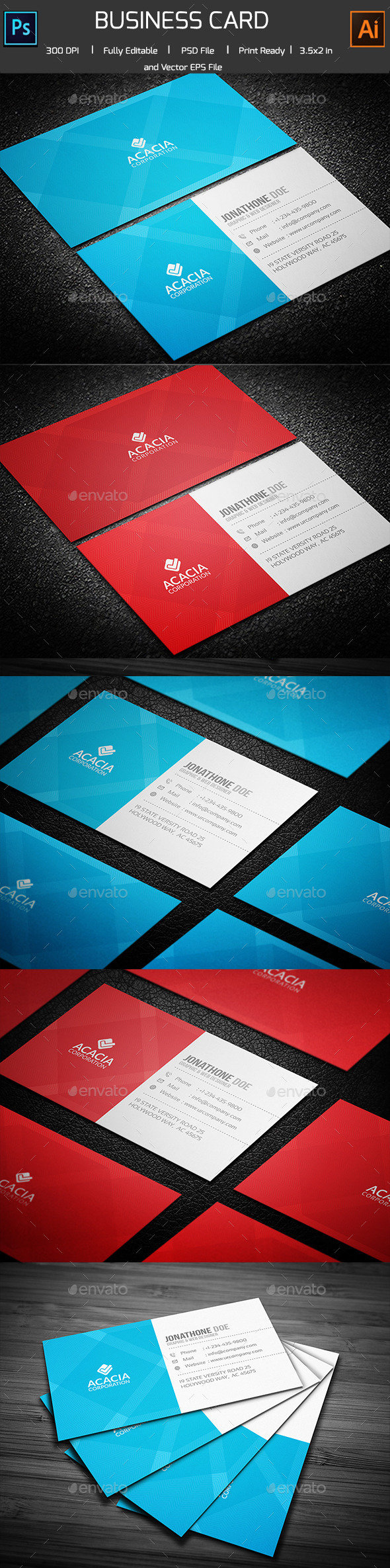 Creative Acacia Business Card - Creative Business Cards