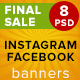 Seasonal Sale Banners For Facebook&Instagram  - GraphicRiver Item for Sale