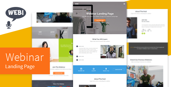 Webi – Webinar Landing Page