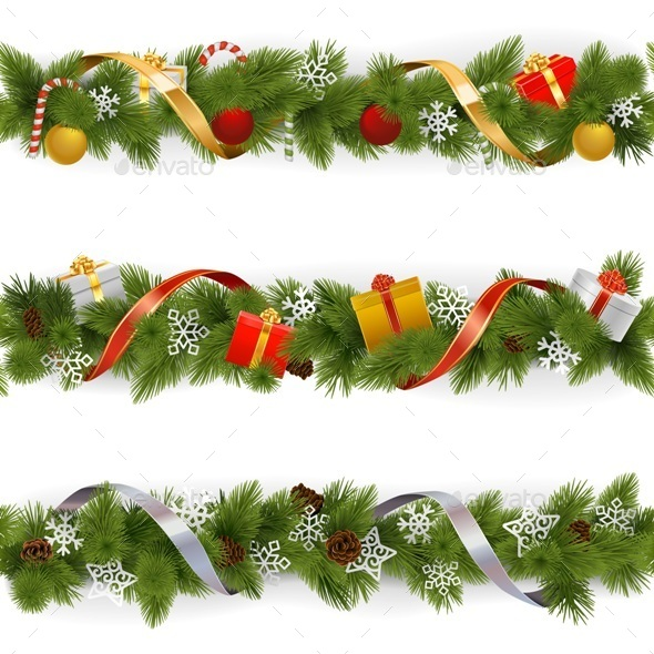 Vector Christmas Border Set 3 - Christmas Seasons/Holidays