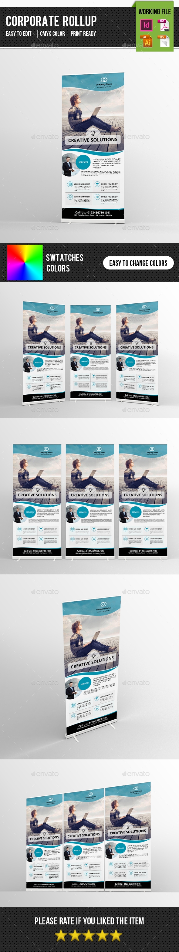 Corporate Roll-up Template-V10 - Signage Print Templates