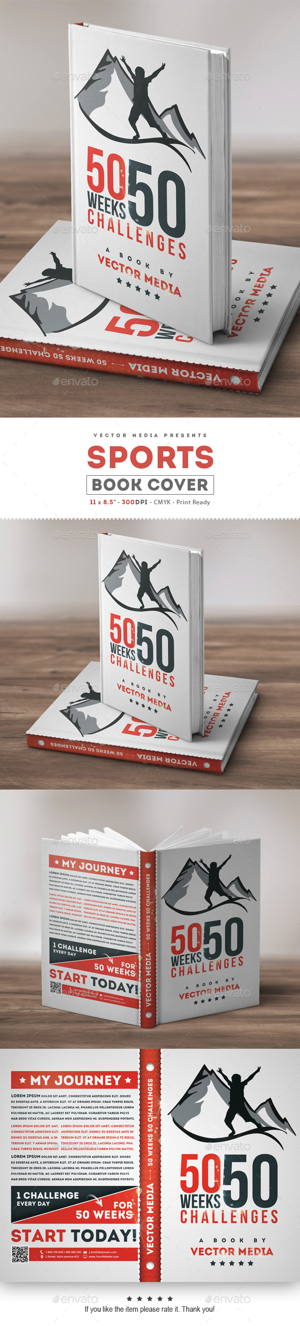 Sports - Book Cover - Miscellaneous Print Templates