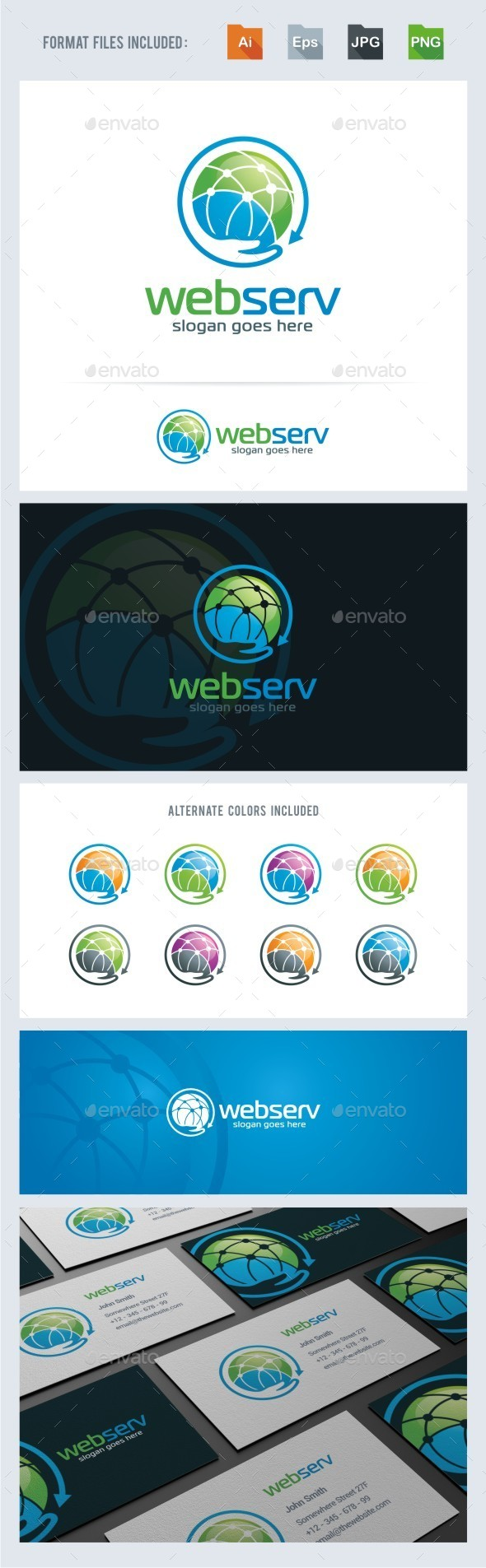 Networking - Web Services Logo Template - Symbols Logo Templates