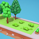 Low poly trees bushes flowerbeds - 3DOcean Item for Sale
