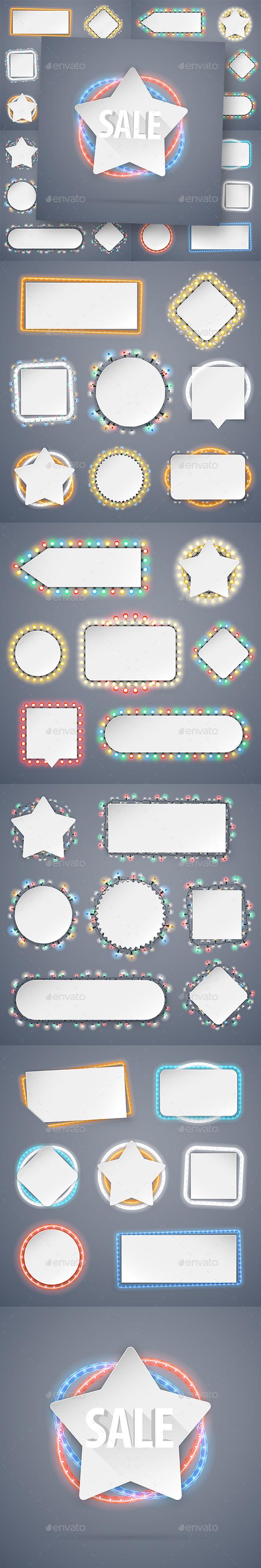 Christmas Banners With Lights Decorations - Christmas Seasons/Holidays