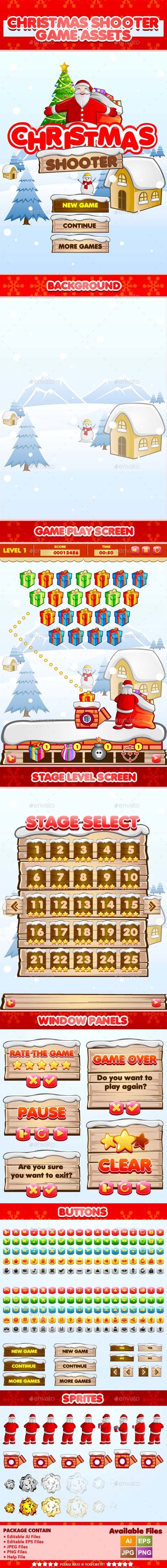 Christmas Shooter Game Assets - Game Kits Game Assets