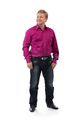 male 40 years on a white background in a purple shirt - PhotoDune Item for Sale