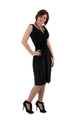 girl in a black dress on a white background - PhotoDune Item for Sale