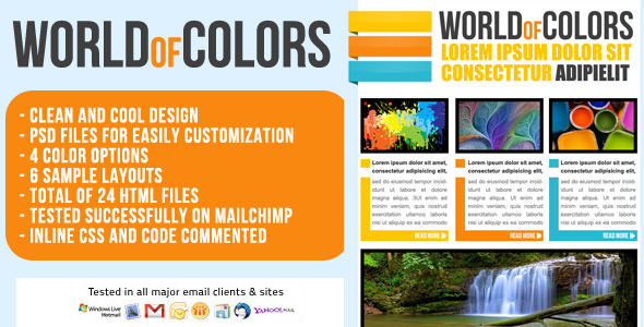 Free Download World of Colors Email Template - Newsletter Nulled Latest Version