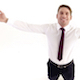 Businessman Happily Spread his Arms - VideoHive Item for Sale