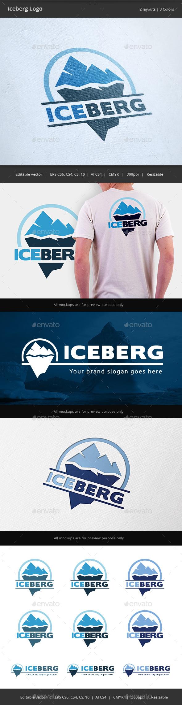 Iceberg Logo - Nature Logo Templates
