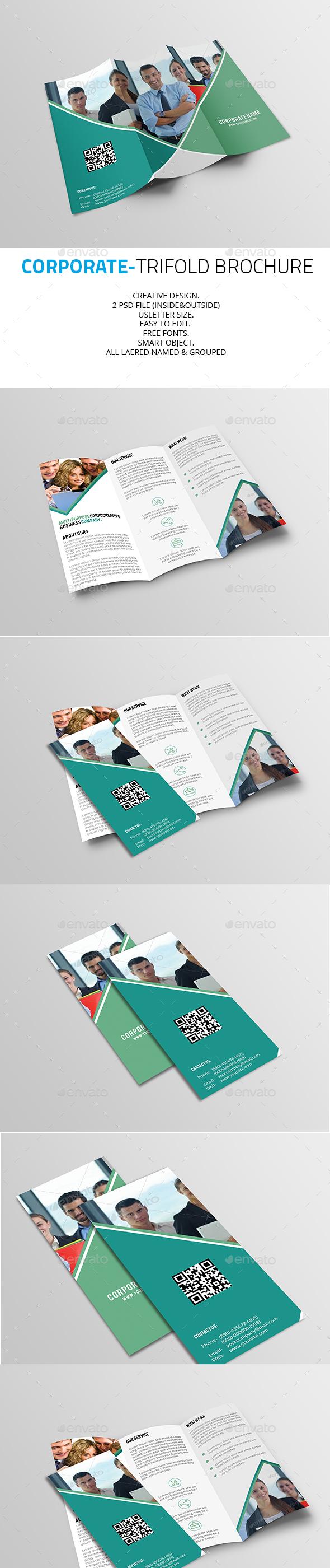 Colors Corporate Trifold Brochure - Corporate Brochures
