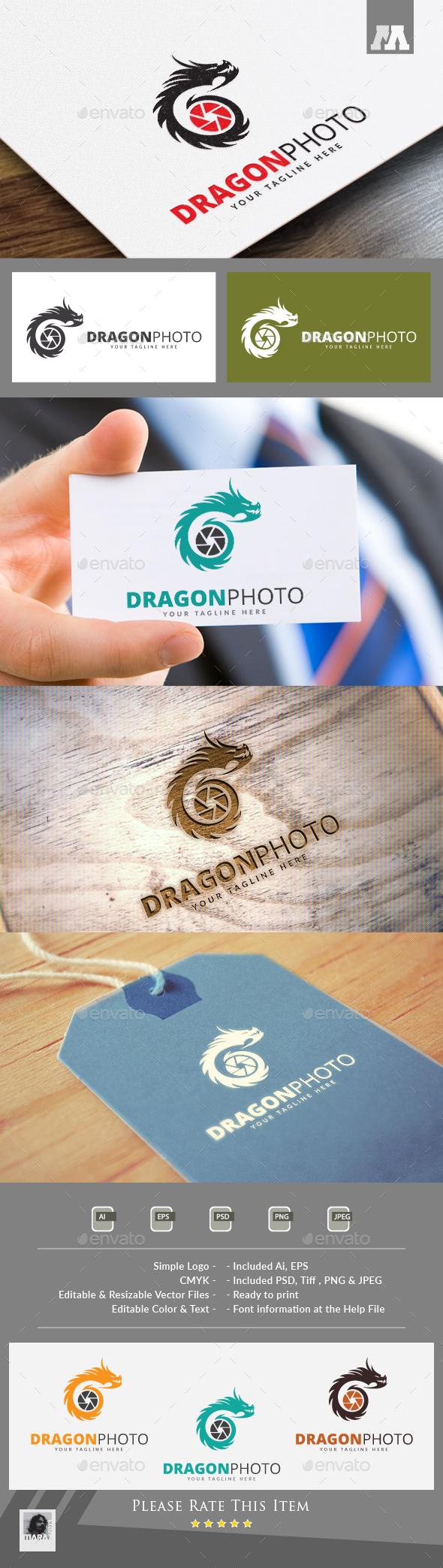 Dragon Photo Logo - Animals Logo Templates