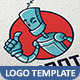 Robot Vector Logo Template - GraphicRiver Item for Sale