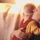 Mother Hugs Her Child - VideoHive Item for Sale