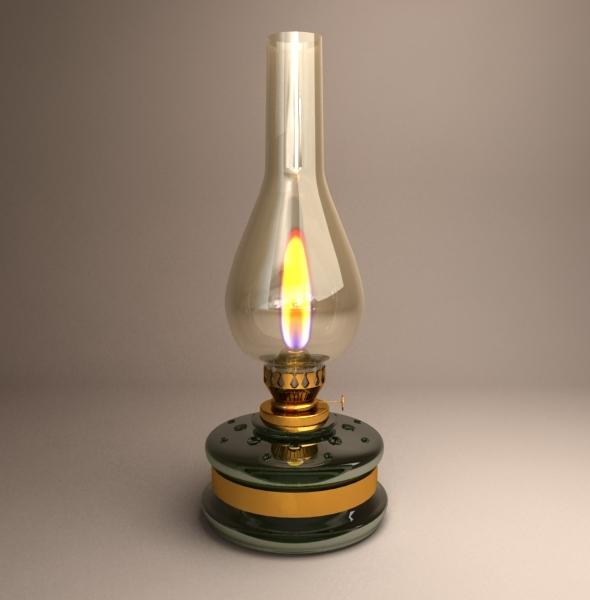 Old gas lamp - 3DOcean Item for Sale