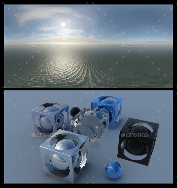 Ocean Blue Clouds 9 - HDRI - 3DOcean Item for Sale
