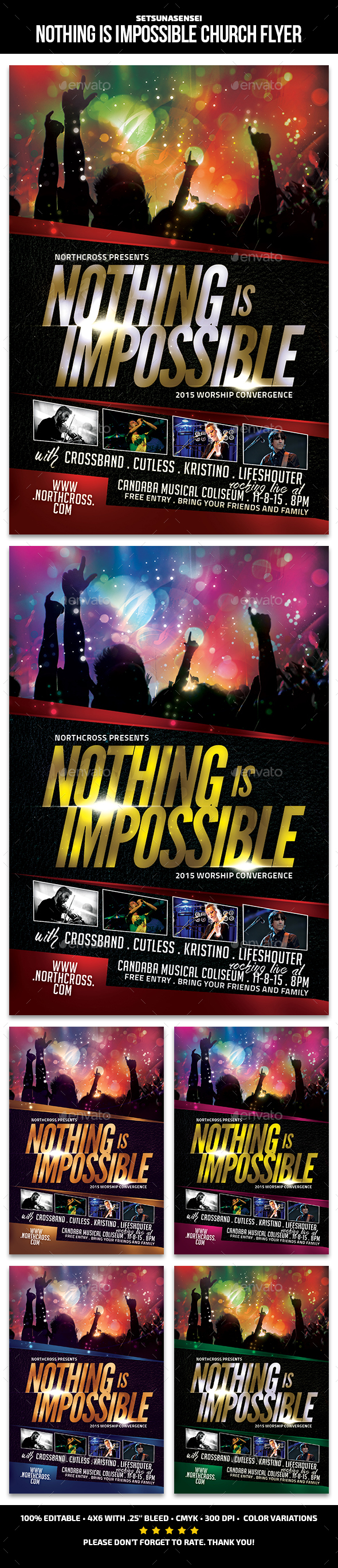 Nothing Is Impossible Church Flyer - Church Flyers