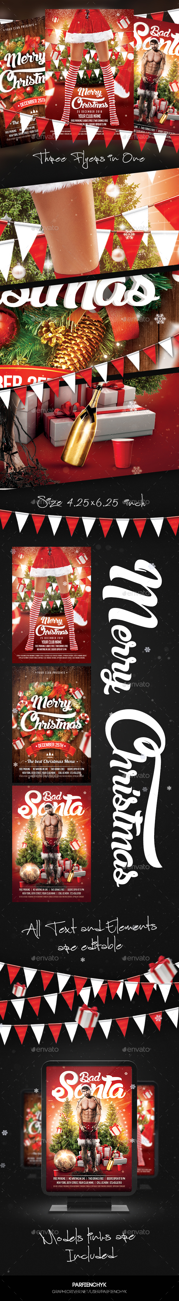 Christmas Flyer Bundle - Clubs & Parties Events