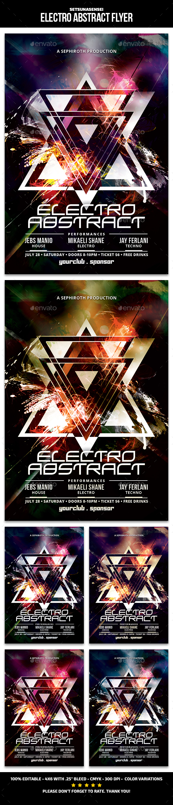 Electro Abstract Flyer - Church Flyers