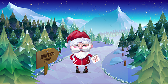 Merry Christmas Background Illustration - Christmas Seasons/Holidays