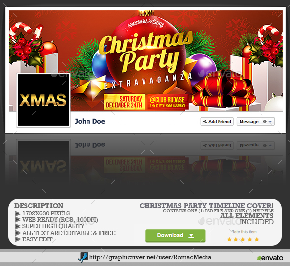 Christmas Party Facebook Timeline Cover - Facebook Timeline Covers Social Media