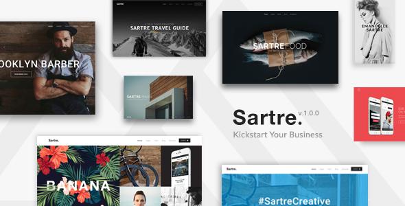Sartre – Creative Multipurpose HTML Template