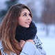 Girl Under Snowing - VideoHive Item for Sale