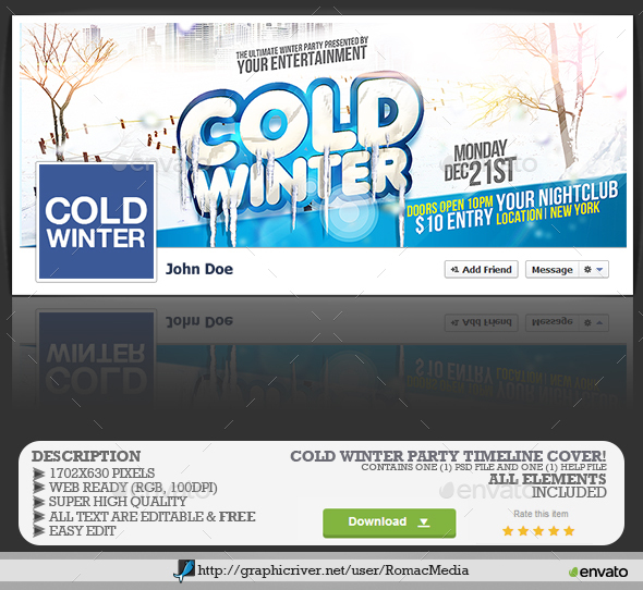 Cold Winter Facebook Timeline Cover  - Facebook Timeline Covers Social Media
