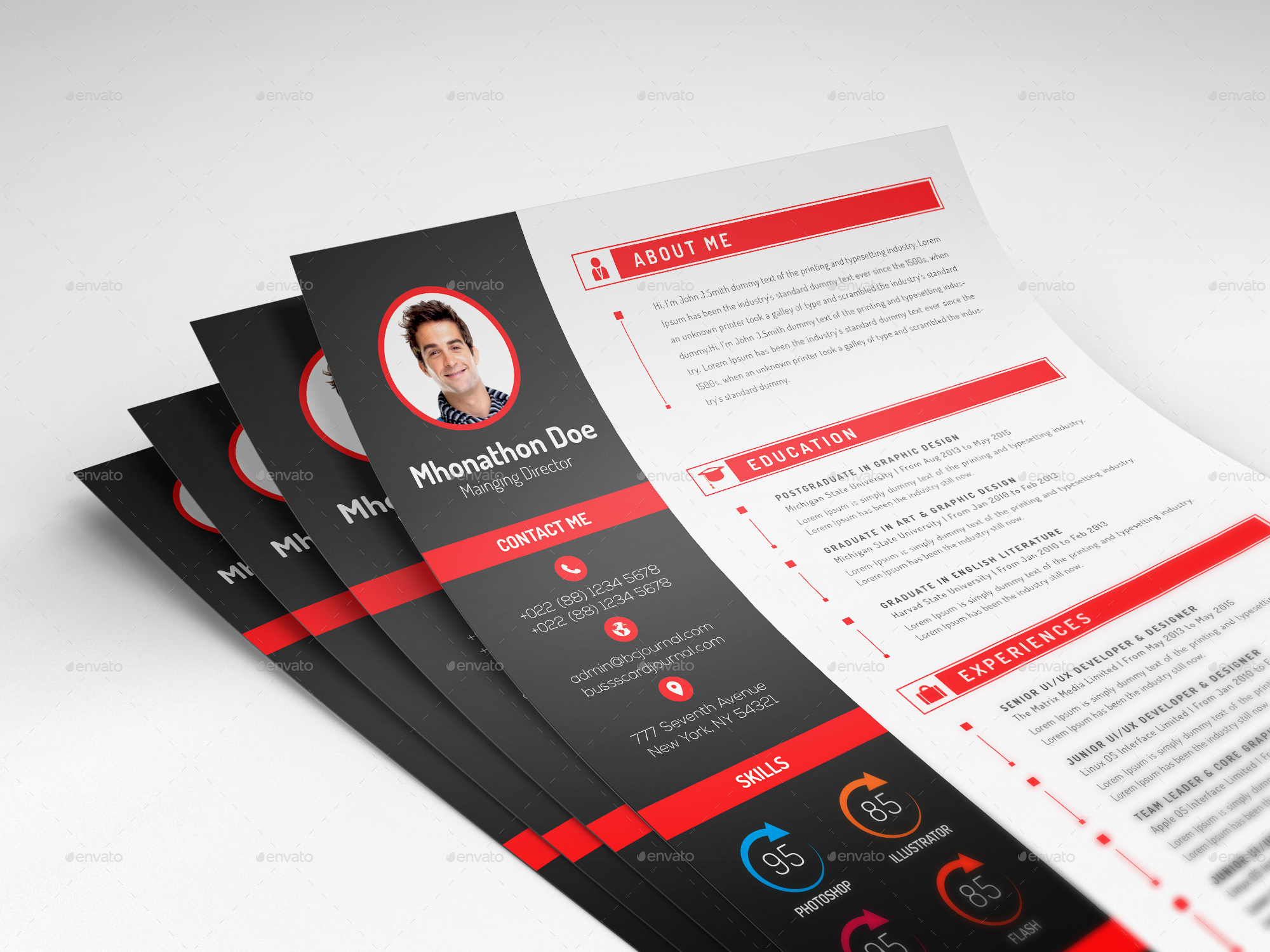 corporate cv  resume bundle by twingraphic