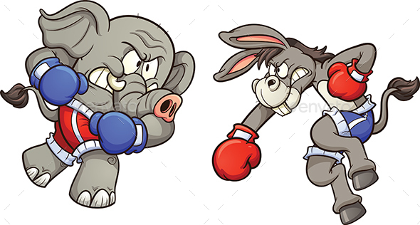 Donkey vs Elephant - Animals Characters