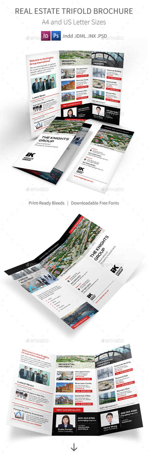 Real Estate Trifold Brochure 4 - Corporate Brochures