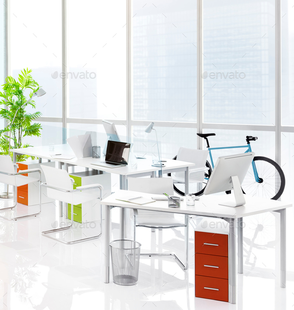 Office Green Business Working Area Meeting Table Concept - Stock Photo - Images