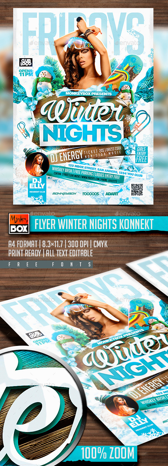Flyer Winter Nights Konnekt - Clubs & Parties Events
