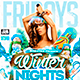 Flyer Winter Nights Konnekt - GraphicRiver Item for Sale