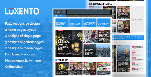 Luxento Magazine HTML5 template