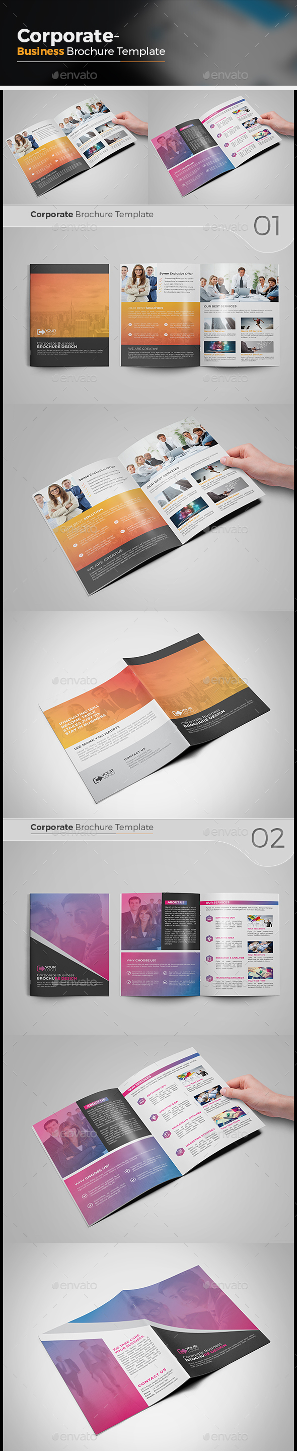Bi Fold Brochure Bundle - Corporate Brochures