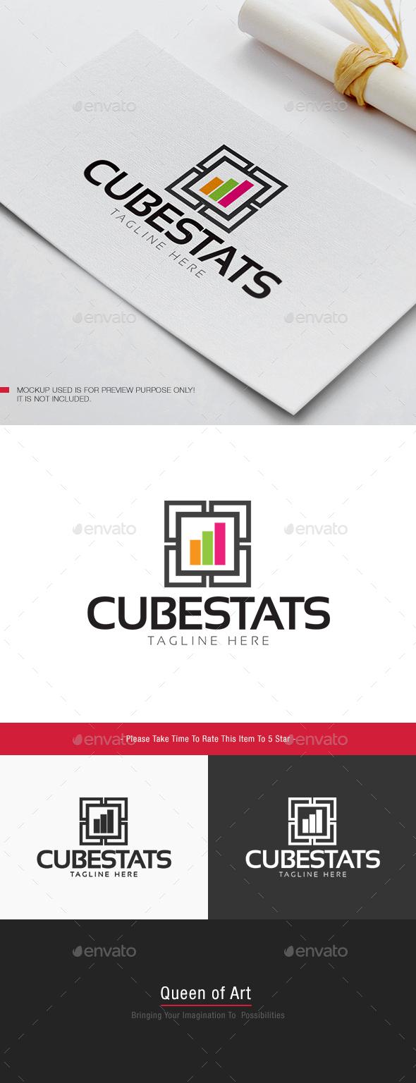 Cube Stats Logo - Objects Logo Templates