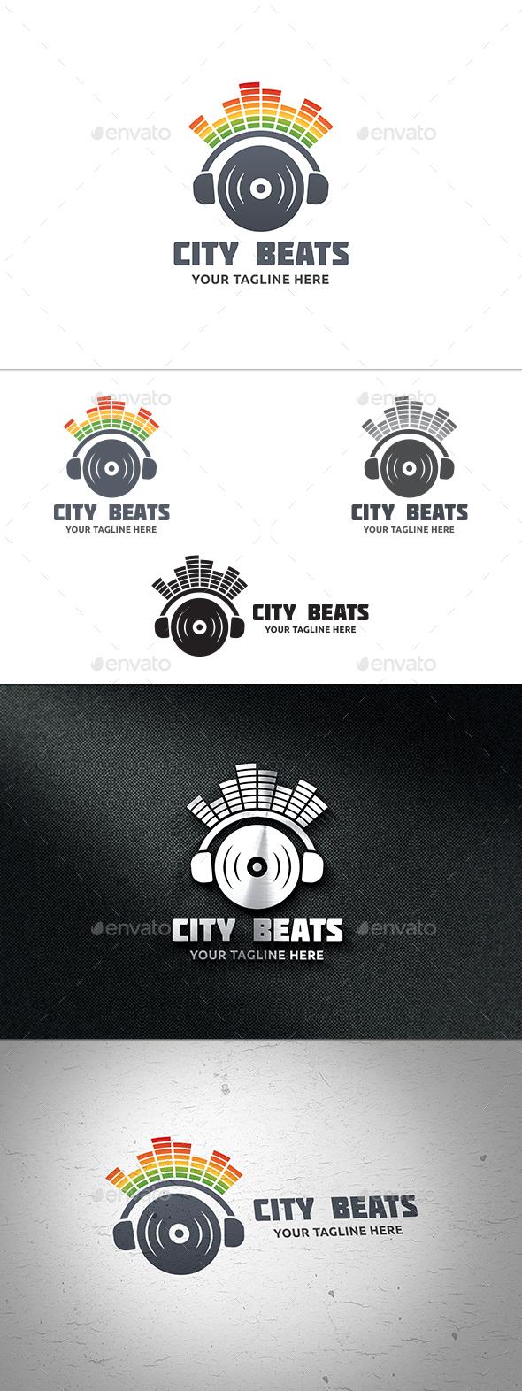 City Beats Logo - Buildings Logo Templates