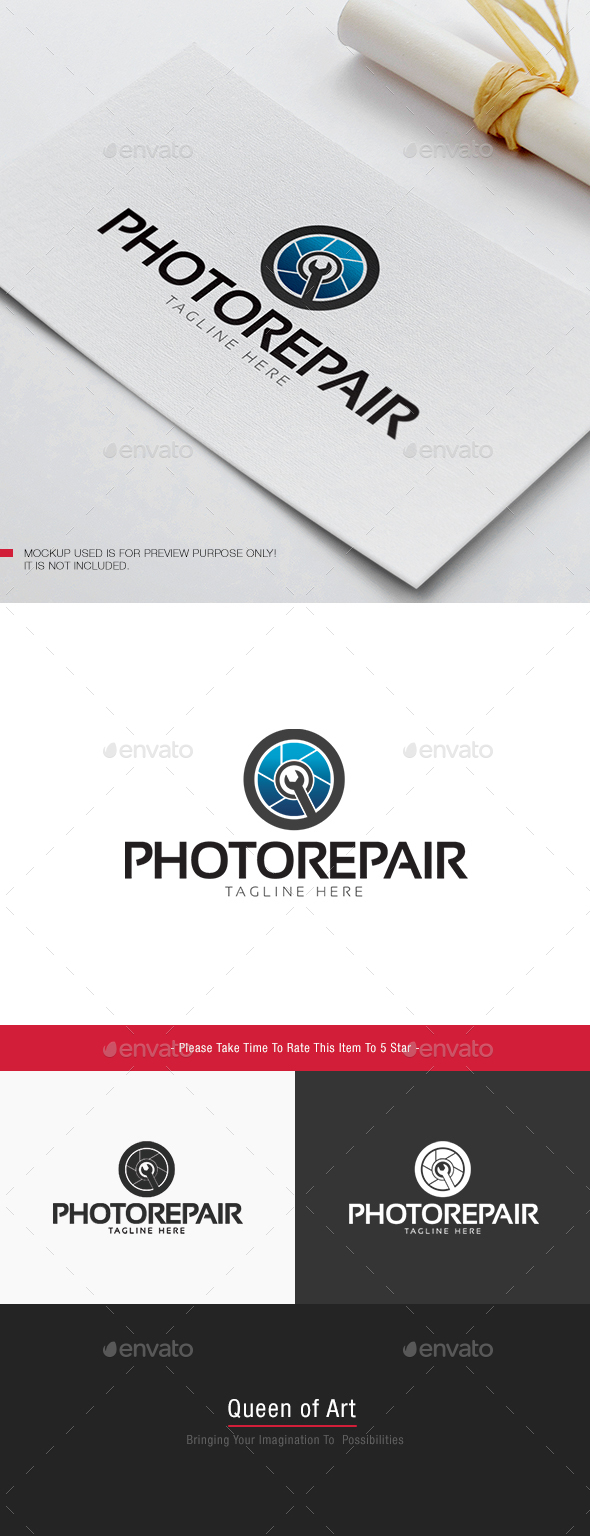 Photo Repair Logo - Objects Logo Templates