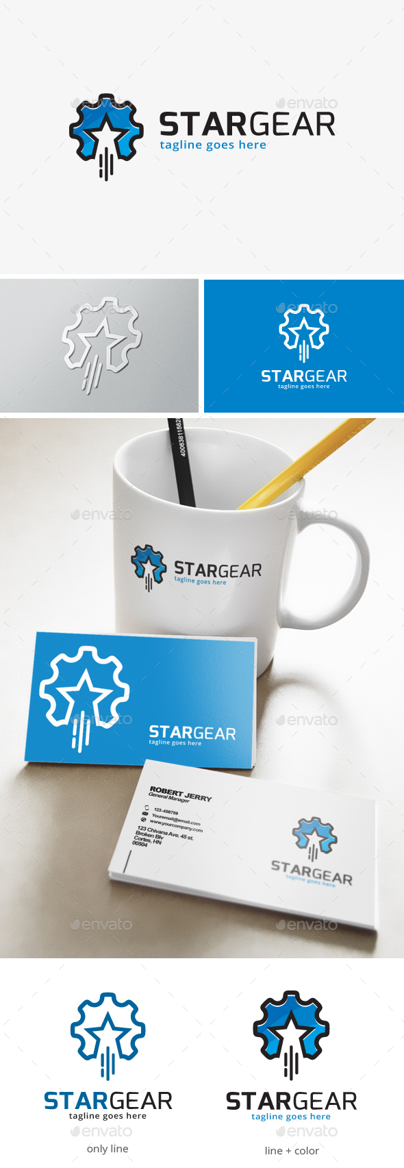 Star Gear Logo - Objects Logo Templates